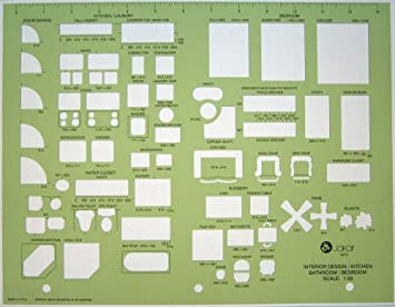 Metric Architects Interior Design Architectural Furniture Drawing Drafting Template Stencil 150 Scale