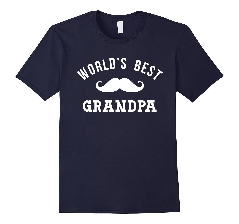 World's Best Grandpa Shirt Funny Cute Papa Fathers Day Gift