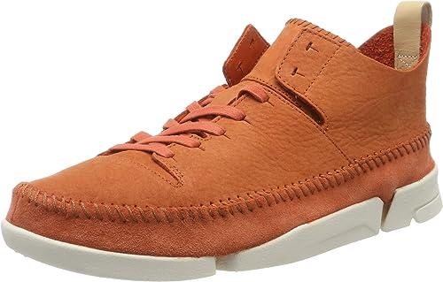 Clarks Originals Trigenic Flex Burgundy Men Nubuck Lace-up Vibram Trainers Shoes