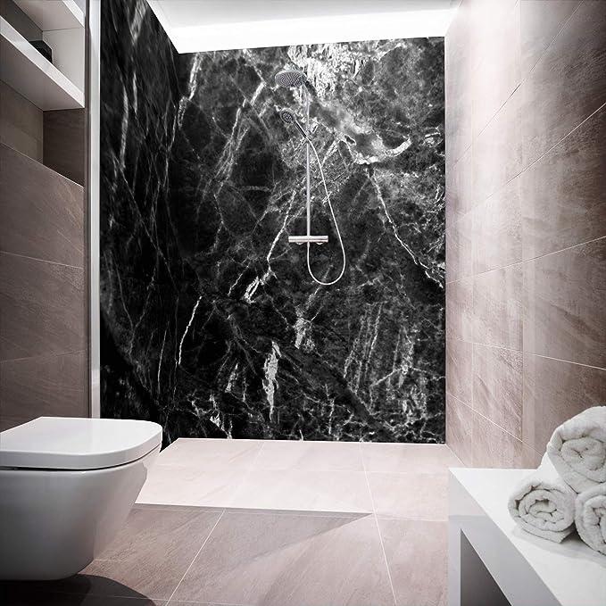 Mampara de ducha de aluminio compuesta como placa individual o ...