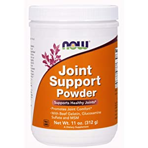 Now Supplements, Joint Support Powder with Beef Gelatin, Glucosamine Sulfate and MSM, 11-Ounce