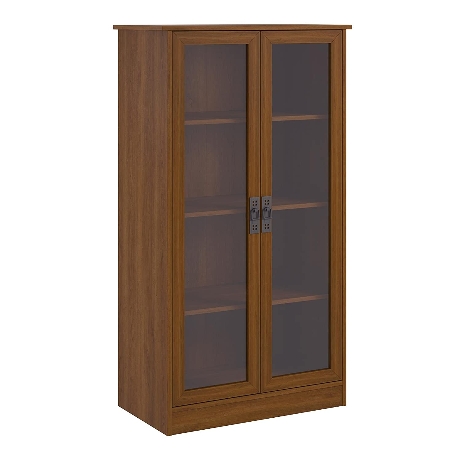 Amazon.com: Ameriwood Home Quinton Point Bookcase with Glass Doors, Inspire  Cherry: Kitchen & Dining