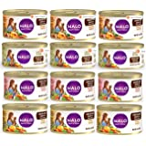 Halo Spot's Stew Grain-Free Canned Cat Food Variety Pack - Lamb, Chicken, Salmon and Turkey Recipe 3 oz (12 Pack - 3 of Each