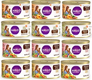 product image for Halo Spot's Stew Grain-Free Canned Cat Food Variety Pack - Lamb, Chicken, Salmon and Turkey Recipe 3 oz (12 Pack - 3 of Each Flavor)