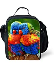 Cute Parrot Print Lunch Bags Food Storage Thermal Insulted Lunchbox Keep Warm for School Work