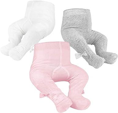 OioTuyi Mallas tejidas para bebé Leggings de algodón sin costuras ...