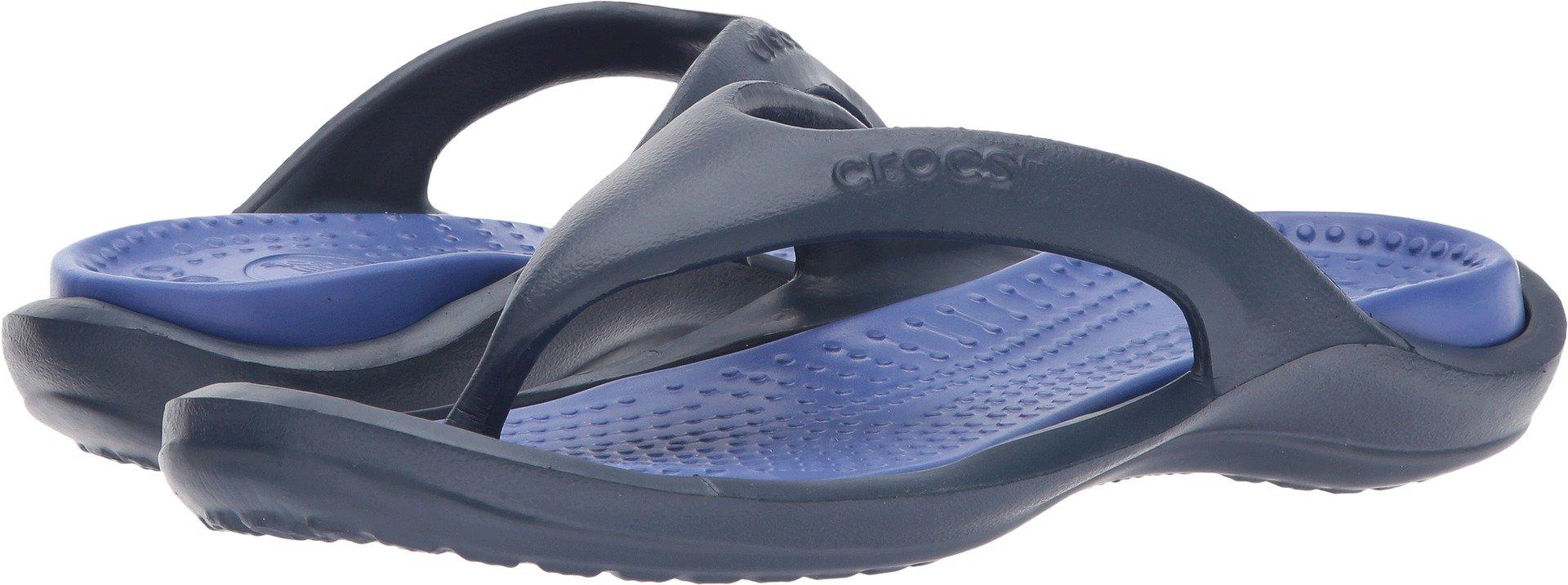 Crocs Athens Flip Flop, Navy/Cerulean Blue, 7 US Men / 9 US Women