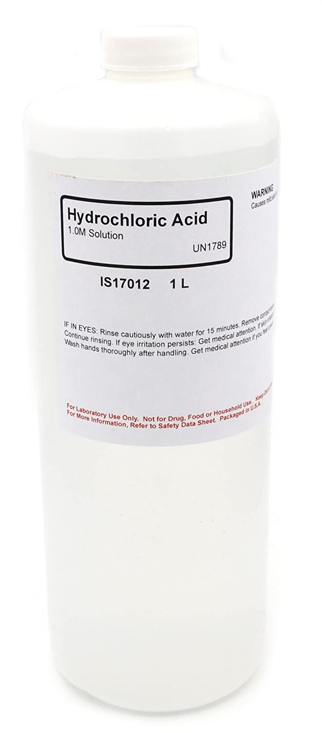 Hydrochloric Acid Solution, 1.0M, 1L - The Curated Chemical Collection