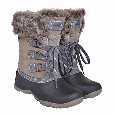 Amazon.com | Khombu Women's The Slope Winter snow Boots Grey size ...