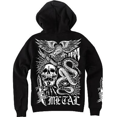 Amazon.com  Metal Mulisha Women s The Life Hoody Zip  Sweatshirts 33e6308c186a