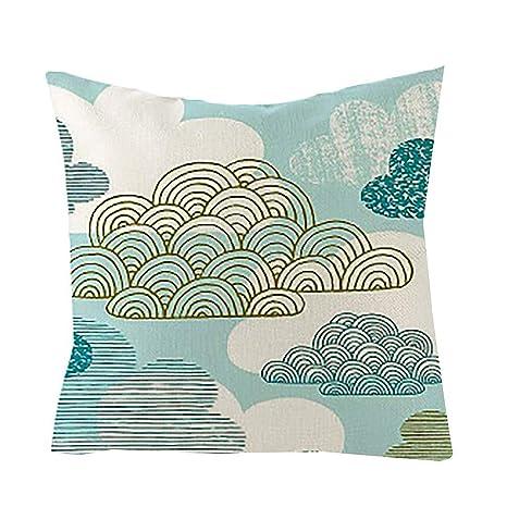 Winkey - Funda de cojín de Lino y algodón para sofá ...