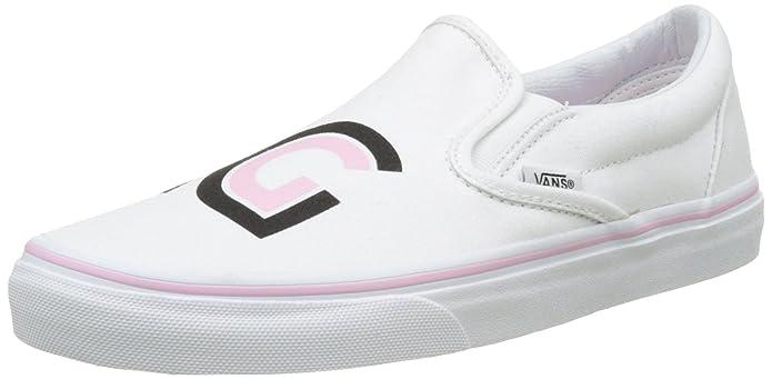 Vans Classic Slip-On Sneaker Damen Weiß mit Logo