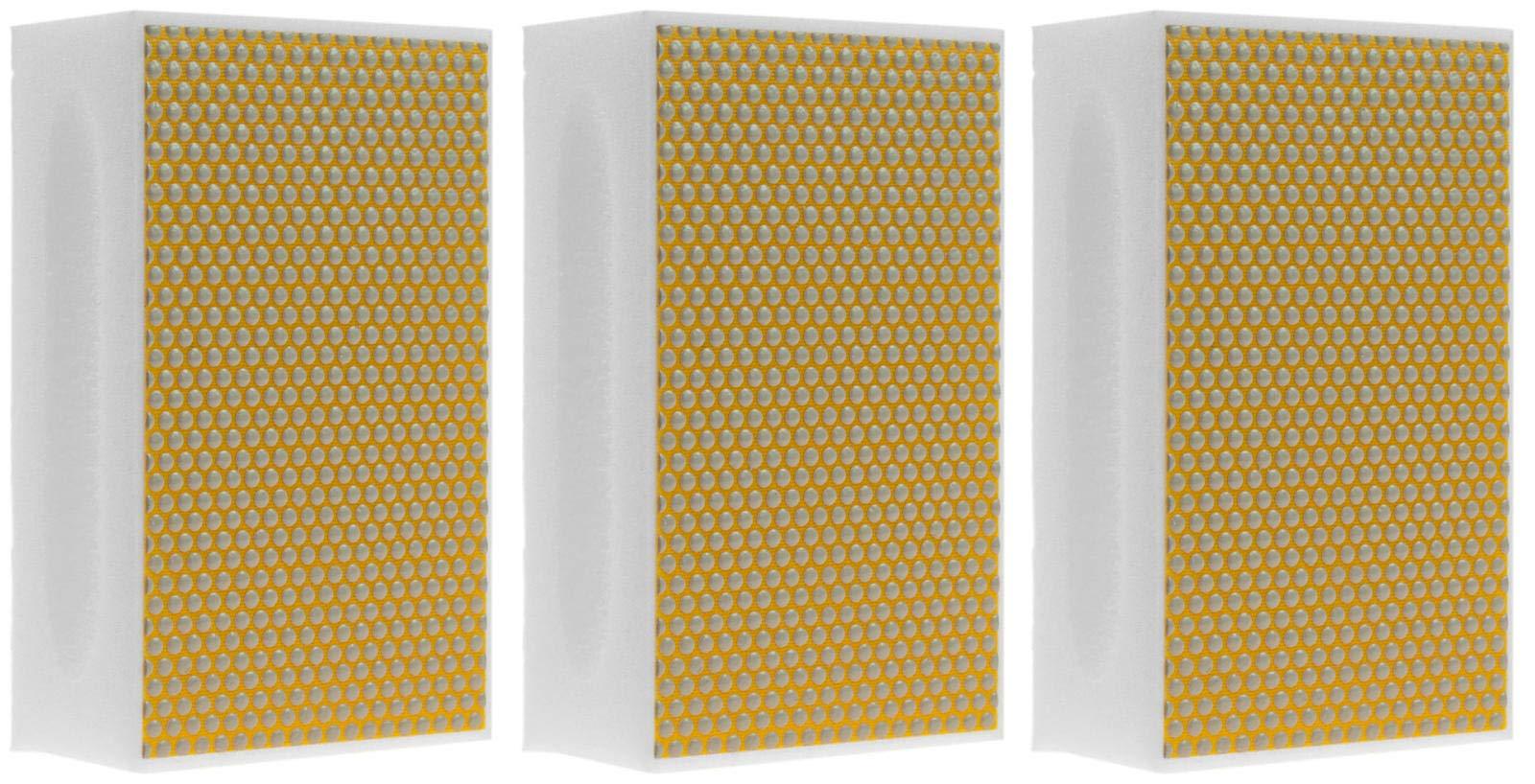 KGS PRO-PAD Diamond Hand Polishing pads (3 Pack, Grit 500 (yellow/white))