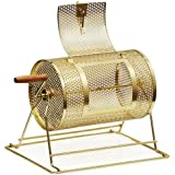 Yaheetech 11 Inch x 8 Inch Brass Plated Ticket Poker Raffle Drum Spinning Lottery