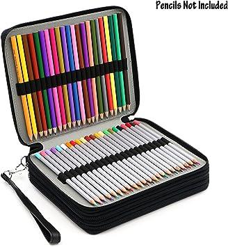 Sumnacon Estuche con 124 espacios para lápices, estuche portalápices de piel sintética para dibujantes profesionales o aficionados: Amazon.es: Juguetes y juegos