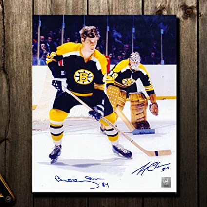 cd5d67756 Bobby Orr   Gerry Cheevers Boston Bruins LEGENDS Dual Autographed ...