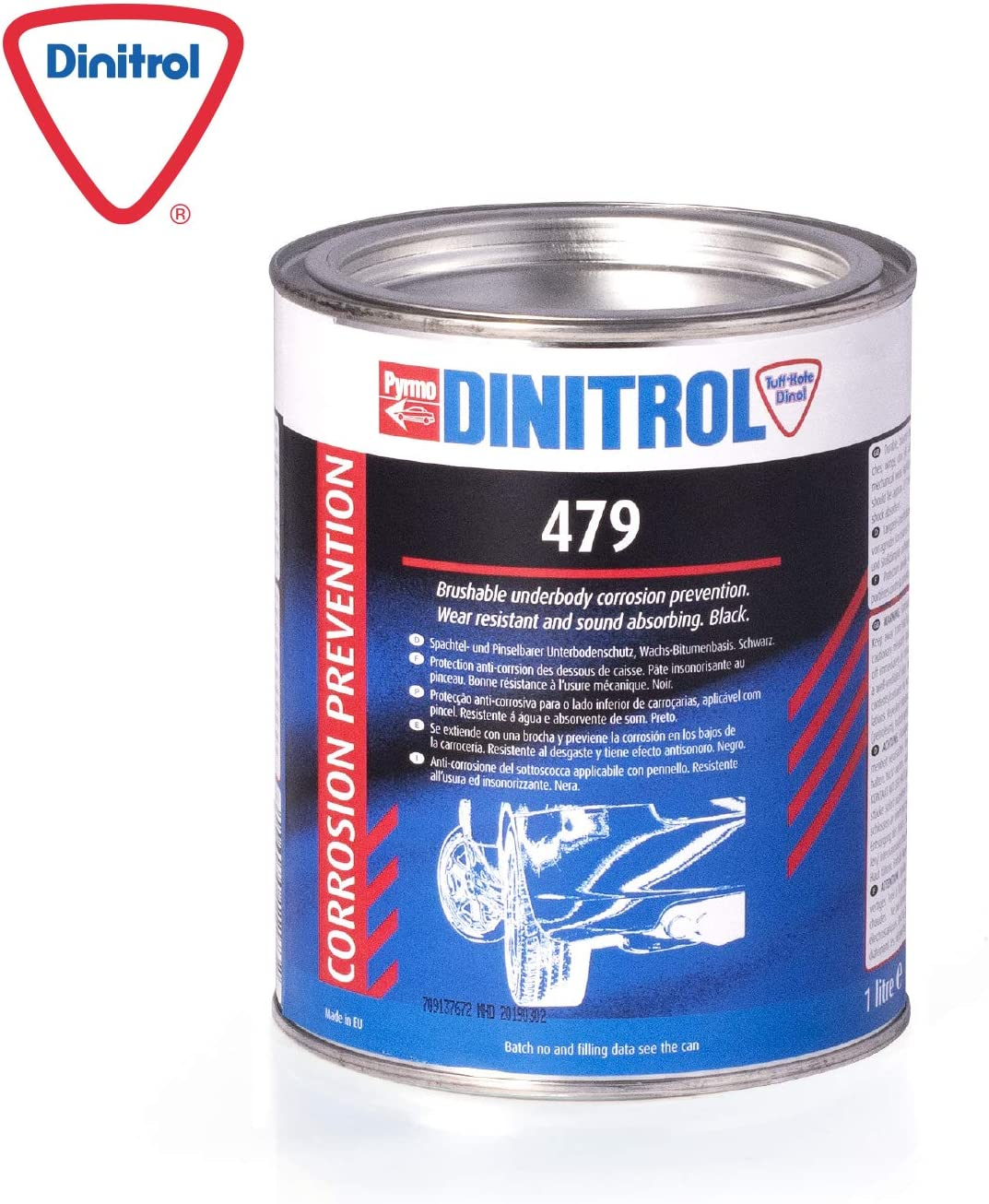 Dinitrol 479 Abrasion Resistant Sound Absorbing Vehicle Underbody Protection 1 Litre Tin Auto