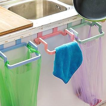 Sinotop Trash Bag Holder Kitchen Bathroom Towels Organizer Portable Rubbish  Bag Hooks 4PCS