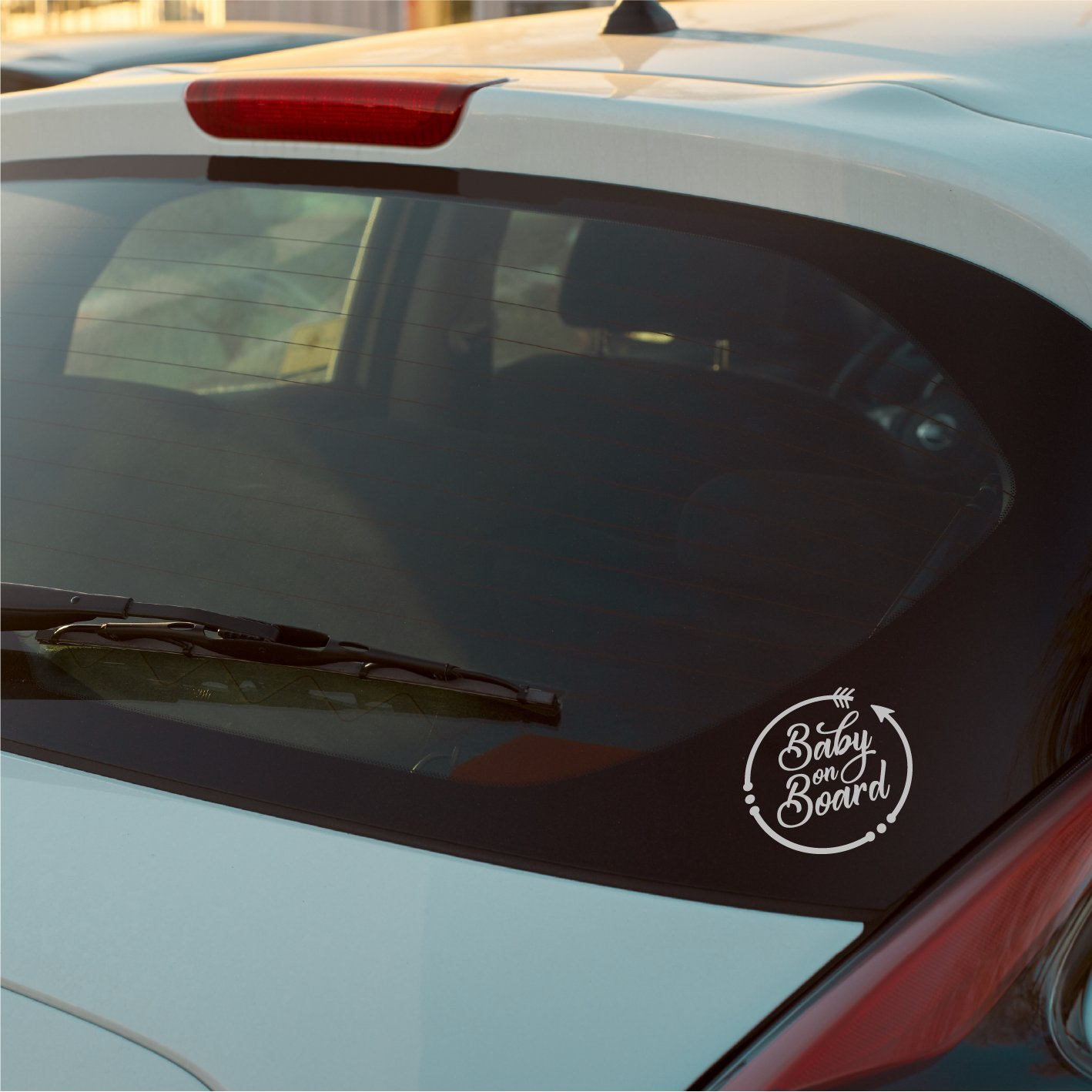 Car Window Bumper Vinyl Decal Sticker LondonDecal BABY ON BOARD Circle