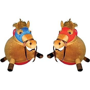 Amazon Com 2 Racing Horse Hopper Balls Toys Amp Games