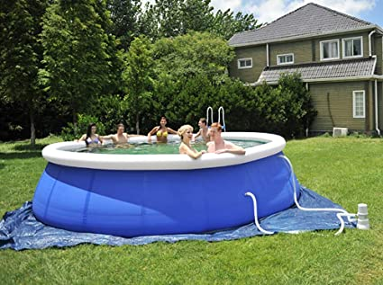Piscina para Adultos Grande: Piscina Inflable Gruesa Redonda, Kit de Bomba de Filtro de Piscina Inflable, Piscina Inflable al Aire Libre para jardín: Amazon.es: Deportes y aire libre
