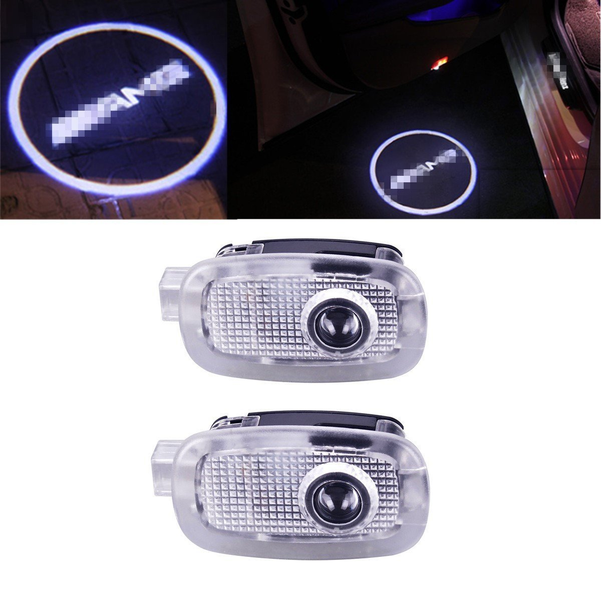 Senled2pcs Car LED Welcome Door Light for Tesla MODEL 3