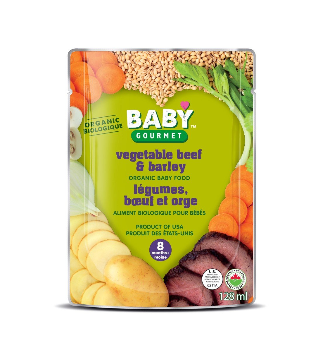 Baby Gourmet Tasty Textures Vegetable Beef and Barley, 16-Pack Baby Gourmet Foods Inc VBAB4BGCSCD0016