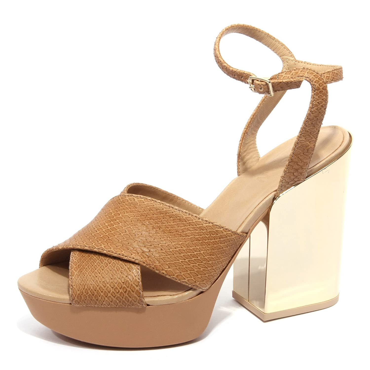 B1738 sandalo donna HOGAN scarpa beige shoes women [38]