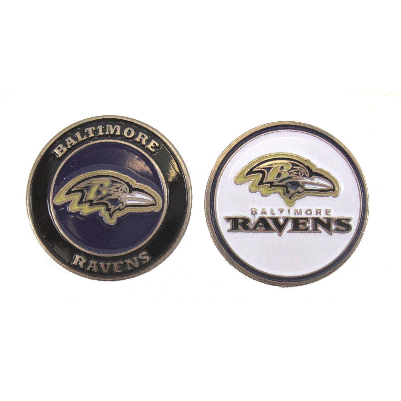 Baltimore Ravens両面ゴルフボールマーカー   B01N2RYLPV