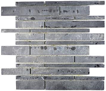 Mosaique carrelage ardoise pierre naturelle Brick Ardoise ...