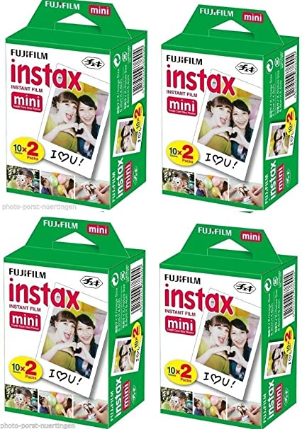 Fujifilm 80 Shoots Instax Mini Film Bundle Pack For mini 7 7s 8 10 20 25 30 50s 55i 90 Polaroid <span at amazon