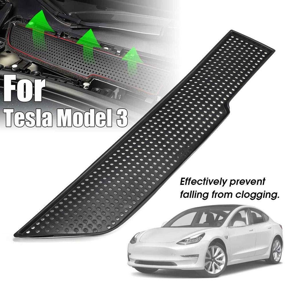 Accesorios para Tesla Model 3 2017 2018 2019,Volwco Cubierta Protectora para Rejilla de Entrada de Aire para Tesla Model 3