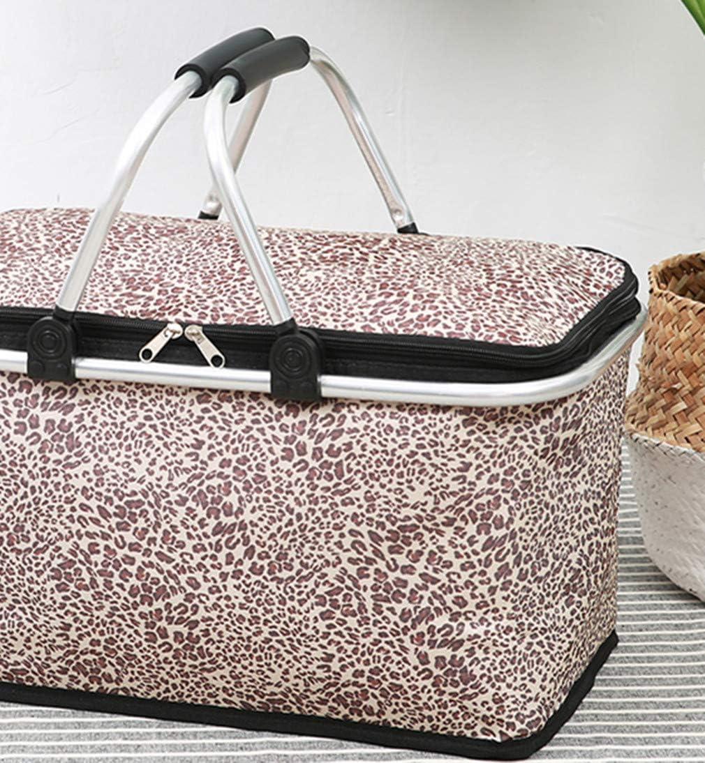 zhruiqun Large Picnic Bag for Women - Storage Basket Folding Portable Family Size Outdoor (Style 2) Style 3