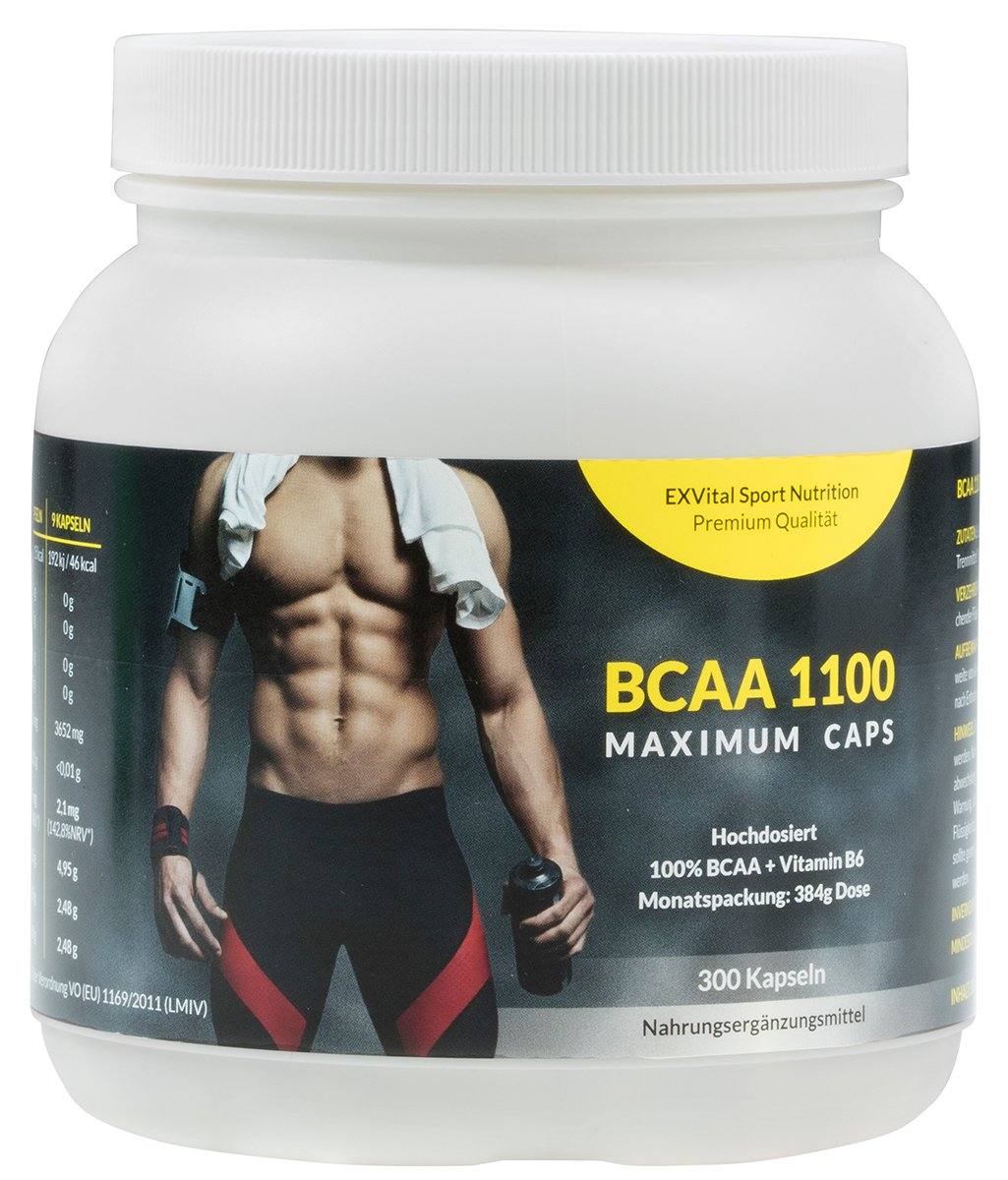 EXVital BCAA 1100最大剂量支链氨基酸胶囊