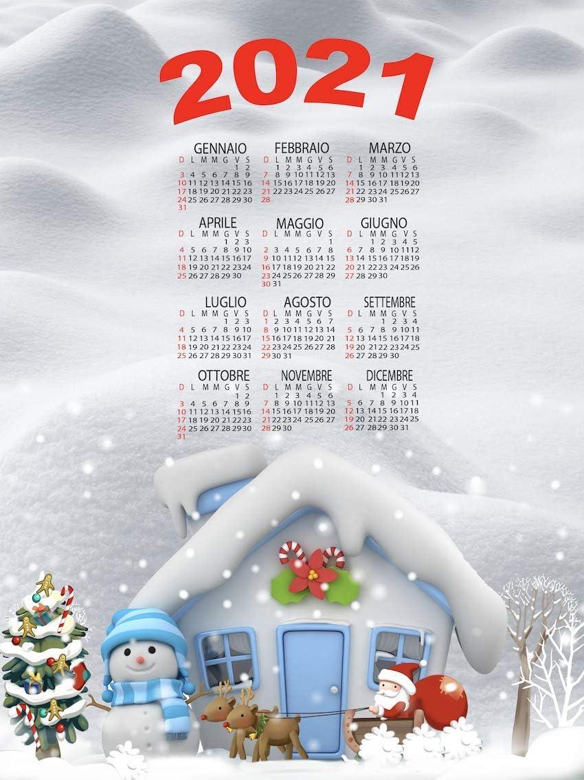 Natale 2021 Calendario.Tex Family Set 6 Pezzi Strofinaccio Calendario 2021 Natale In Puro Cotone Stampato In Alta Definizione Misura Maxi Assortimento B Amazon It Casa E Cucina