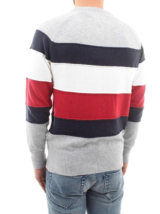 Vêtements Accessoires Et Tricot Homme Tommy Hilfiger Colorblock À Multicolore Rayures z08RWx8