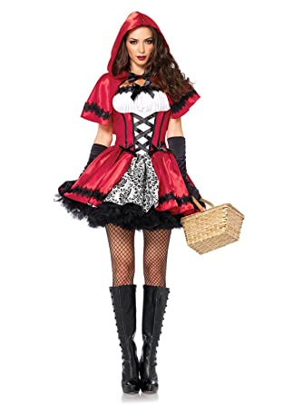b396bc716 Leg Avenue Women's Plus-Size 2 Piece Gothic Red Riding Hood Costume, Red/
