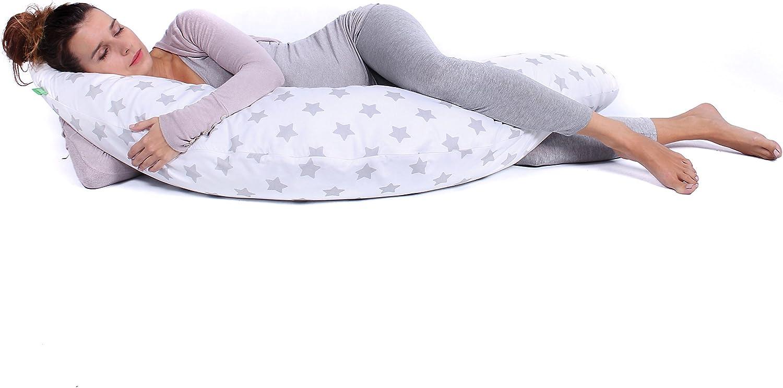Nursing Pillow Maternity Pillow Black Diamonds//White LULANDO BOMERANG Pregnancy Pillow Playpen for Adult and Babies 200x39 cm. Sleeping Pillow