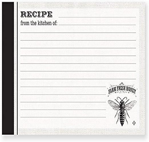 Refill Organizer Recipe Book Card