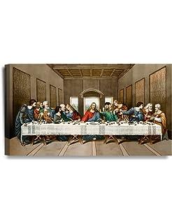 Leonardo Da Vinci The Last Supper Religious Jesus Renaissance Print Poster 24x12