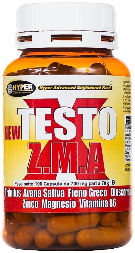 Estimulante de la testosterona natural NEW TESTO X ZMA 100 cps - 70 gr | aumentar