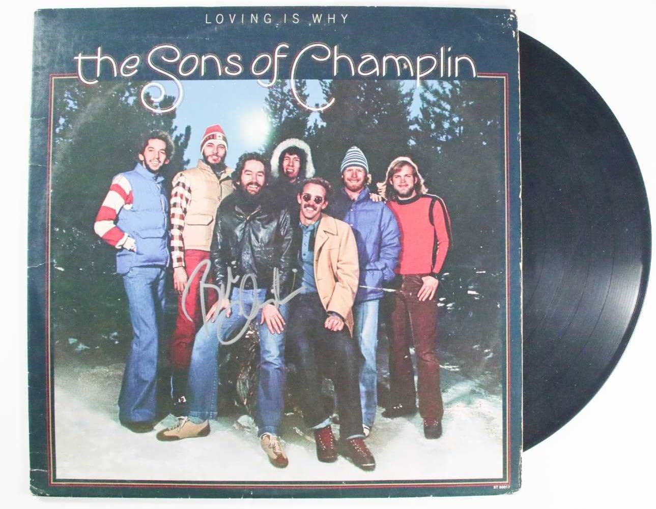 """Bill Champlin Signed Autographed """"The Sons of Champlin"""" Record Album - COA Matching Holograms"""