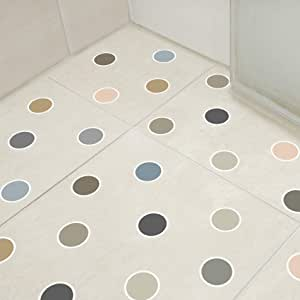 Adesivo Piso Banheiro Antiderrapante Bolinhas Neutras 14un