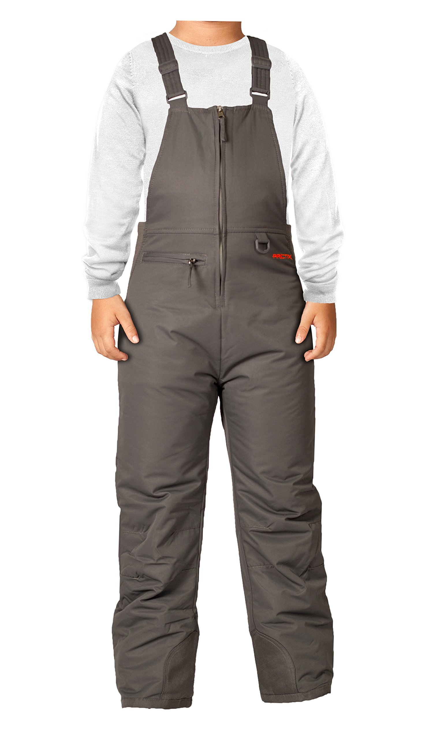Arctix Youth Insulated Overalls Bib, X-Small, Charcoal