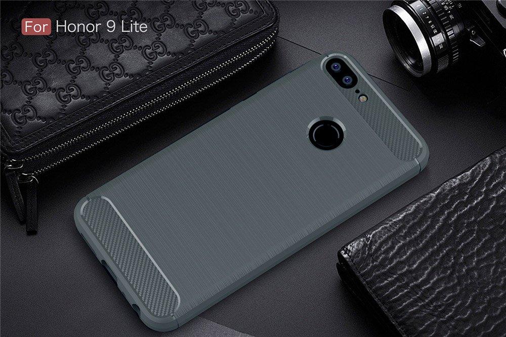 GOGME Funda para Huawei Honor 9 Lite Rojo Slim Silicona Case