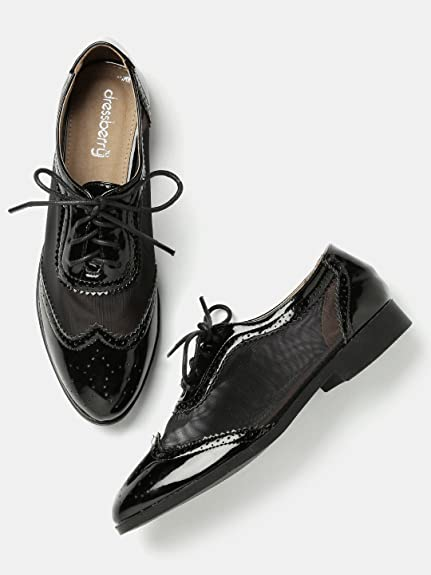 dbc1b512536b5 DressBerry Women Black Brogues (6UK): Buy Online at Low Prices in ...