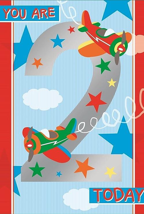 Tarjeta de cumpleaños para niño de 2 años - Aviones ...