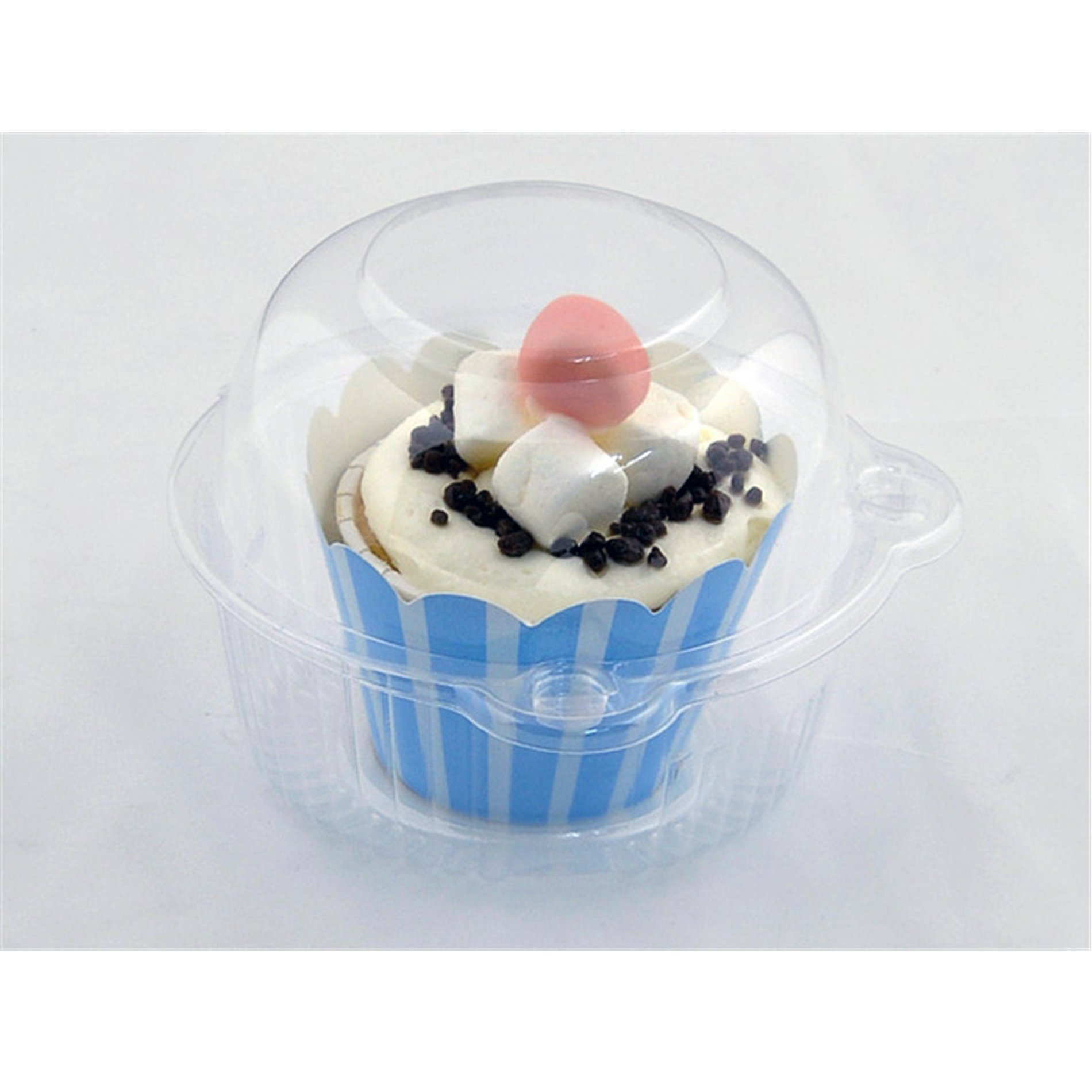 100pcs Clear Plastic Cupcake Cake Muffin Case Dome Holder Box Container by IDS (Image #2)