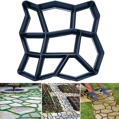 Free Shipping Rectangle Garden Paving Plastic Mold For Garden Concrete Molds Garden Path Diy Stone Model Shovel 45*40*4 Cm Furniture