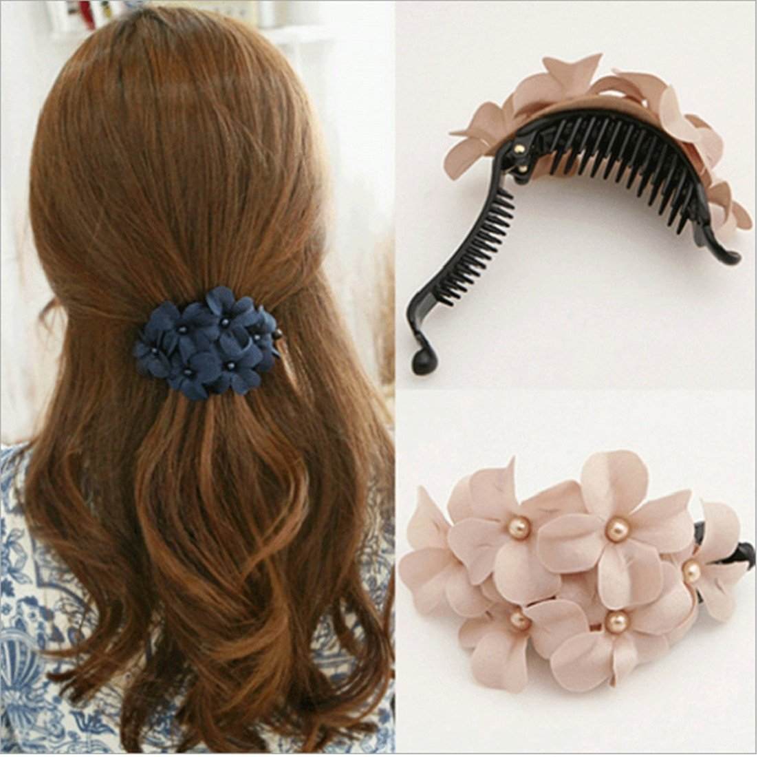 10pcs Large Plastic Hair Clamp Comb Clip Claw Women Lady Hair Accessories
